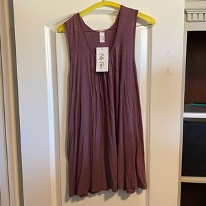 Sleeveless tank with embroidered back